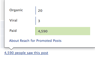 Facebook Promoted Post Results